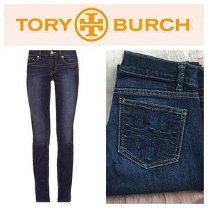 Tory Burch Logo Super Skinny Jeans SZ.26 / 2